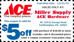 Miller Supply ACE Hardware Printable Coupon