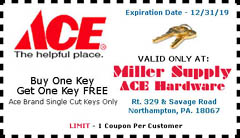 picture about Ace Hardware Printable Coupons titled Miller Provide ACE Components, Components Developing