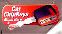 Car ChipKeys made at Miller Supply Ace Hardware