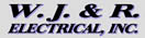 W. J. & R. Electrical Contractors Logo & Link