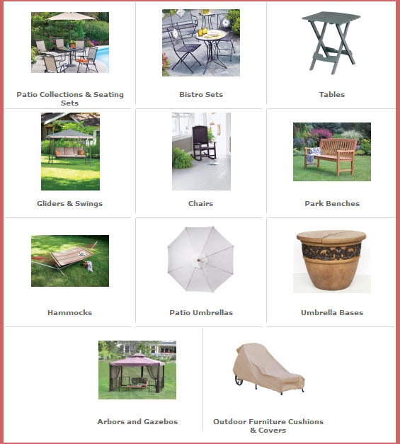 Miller Supply Ace Hardware Patio sets tables glider swing arbors gazebos
